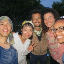 Kei, Chihiro, Kenji, Carmel et moi