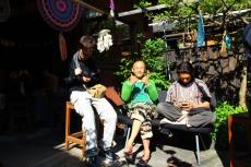 Julien, Akio et Simon