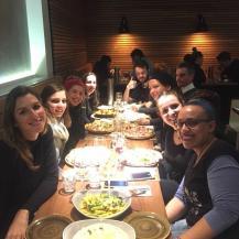 De la gauche vers la droite: Jenny, moi, Coco, Elisa, Sarah, Rachel, Sophie et son copain, et Maxou tout au bout